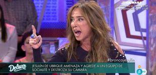 Post de María Patiño enfurece contra Arrabal para defender a 'Socialité' en el 'Deluxe'