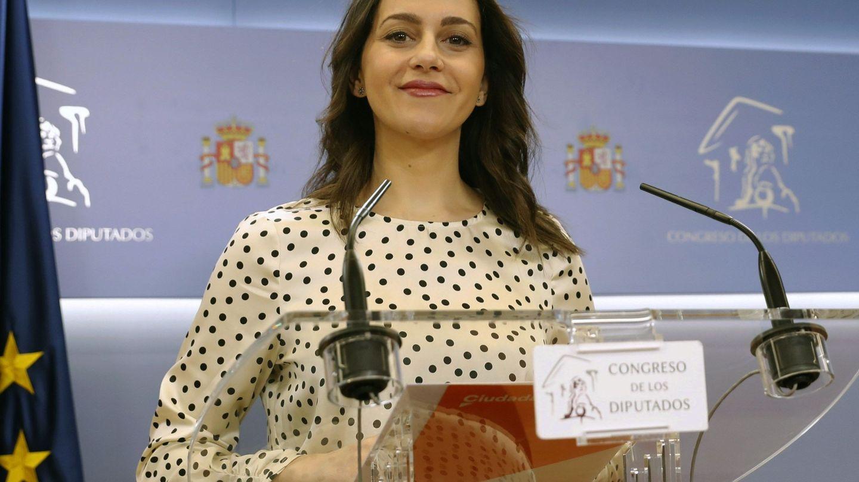 La portavoz de Ciudadanos en el Congreso, Inés Arrimadas, durante una comparecencia.(EFE)