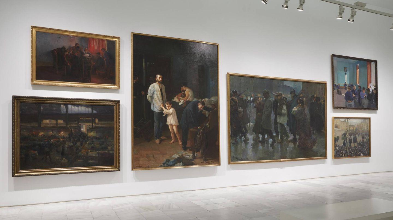 En el centro, el cuadro de Romero de Torres 'Conciencia tranquila'. (Museo Reina Sofía)