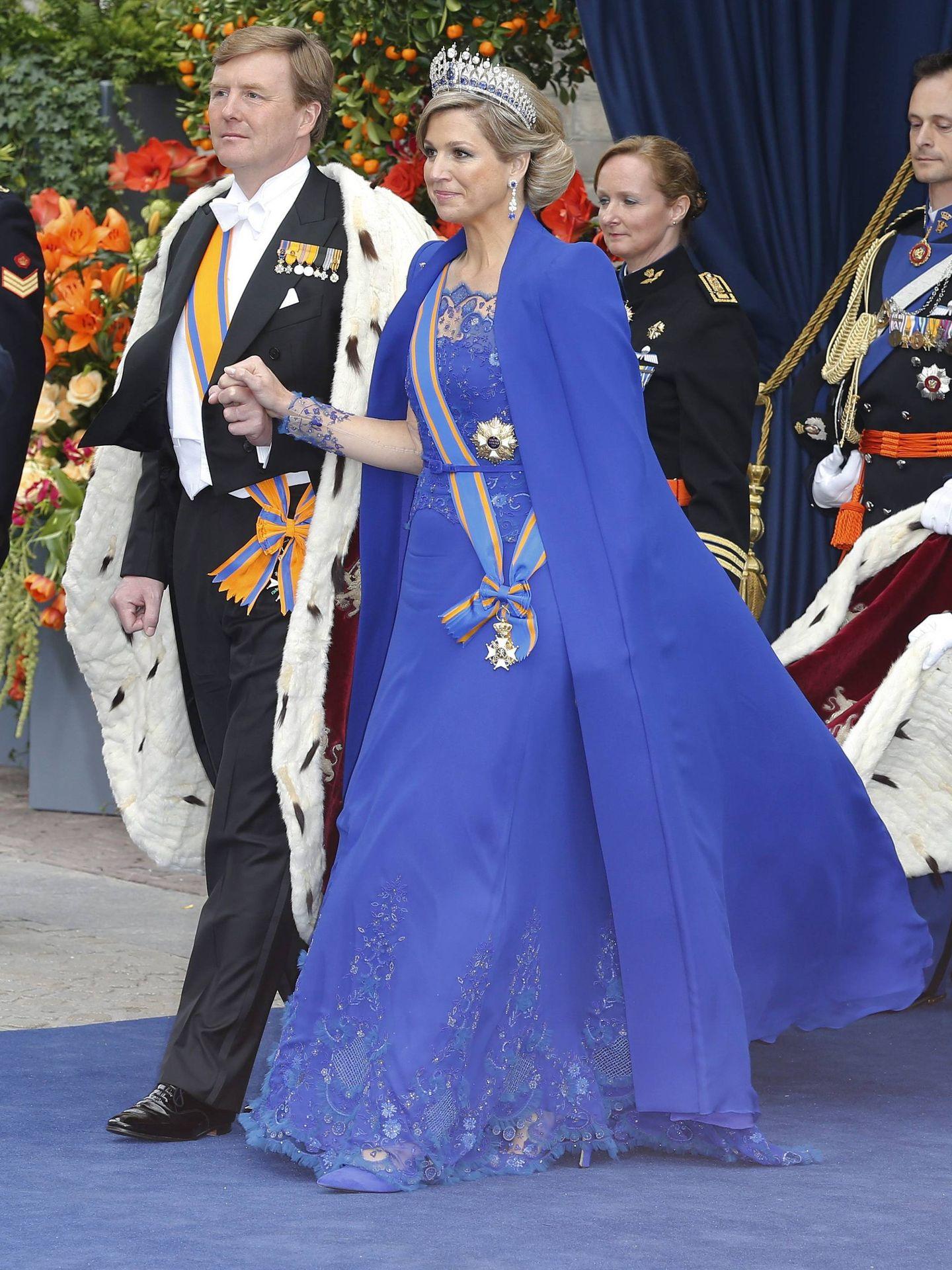 Máxima y Guillermo, durante la coronación. (Cordon Press)