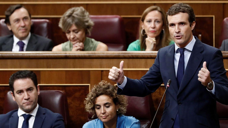 Pablo Casado, en el Congreso. (EFE)