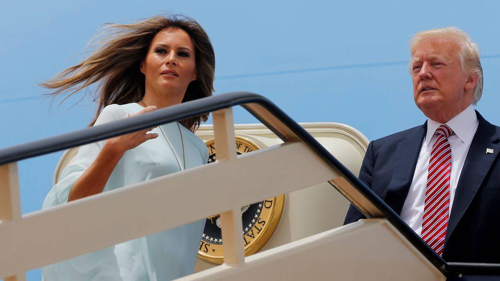 Foto: El matrimonio Trump en una imagen de su viaje a Israel. (Reuters)