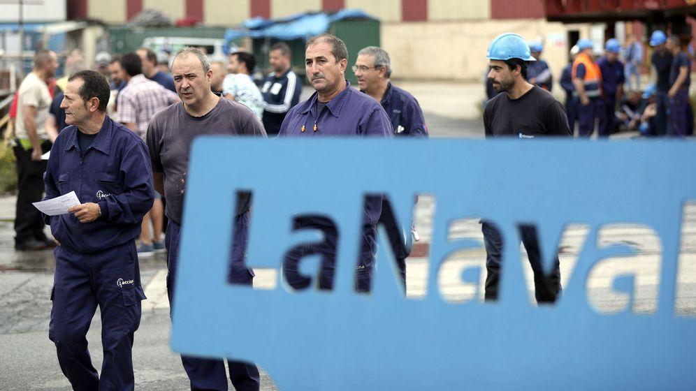 Foto: Protestas de trabajadores de La Naval. (Foto: EC)