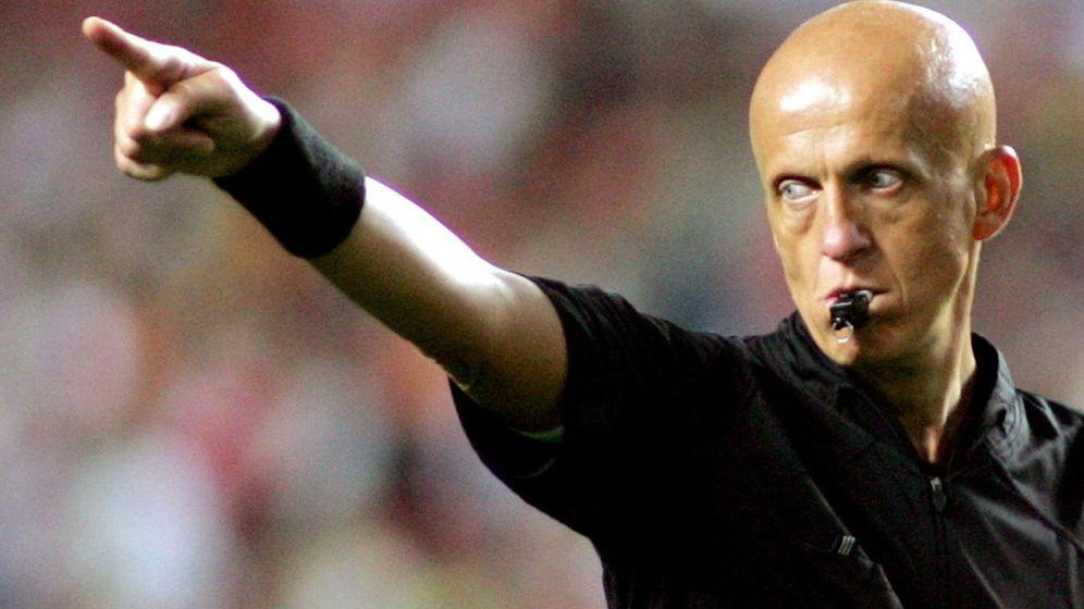 Foto: El ex árbitro Collina, imagen icónica de Rojadirecta