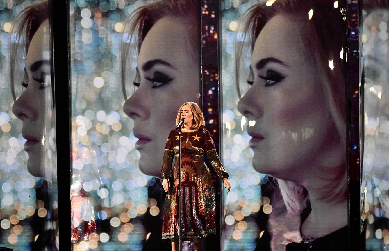 Foto: La cantante Adele en los Brit Awards de Londres (Gtres)