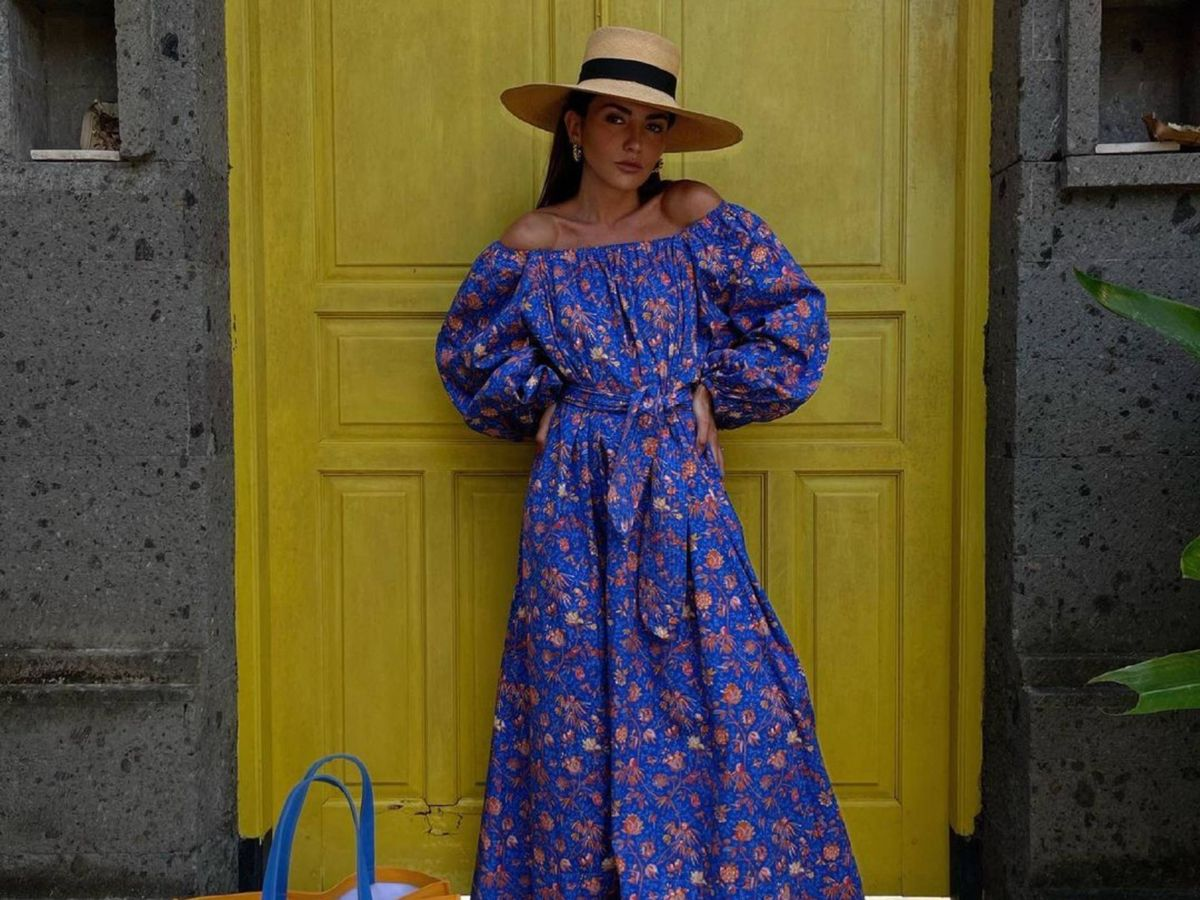 Foto: La insider española Alexandra Pereira con el vestido. (Instagram @alexandrapereira)