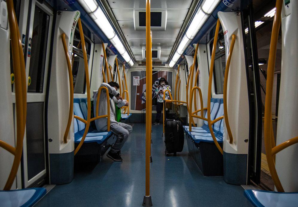 Foto: El Metro de Madrid, desierto estos días. (Carmen Castellón)