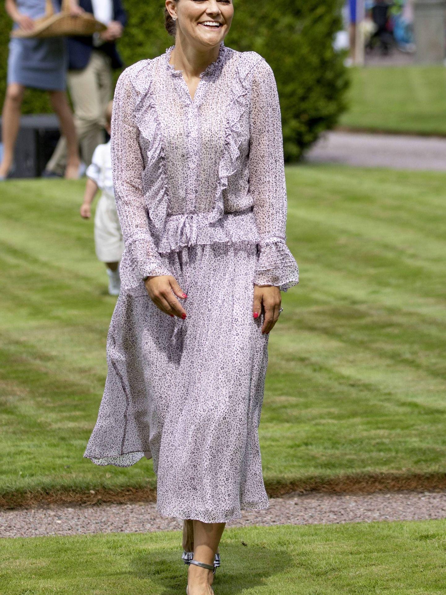 Victoria de Suecia, guapísima en su 41 cumpleaños. (Cordon Press)