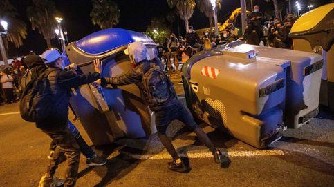 Los CDR vuelven a Urquinaona y Via Laietana un año después de la sentencia del 'procés'