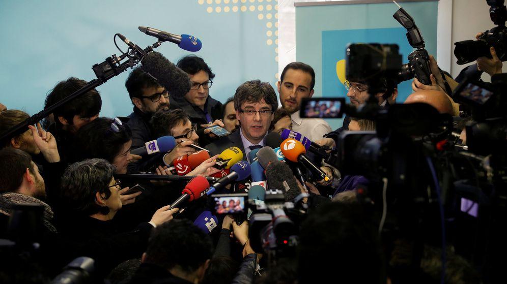 Foto: Puigdemont, el pasado 24 de enero, en Bruselas. (Reuters)