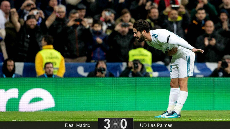 Foto: El Bernabéu, a los pies de Isco. (Cordon Press)