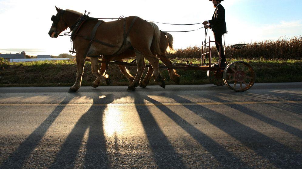 Foto: Un amish de Pensilvania con su carreta. (Reuters)