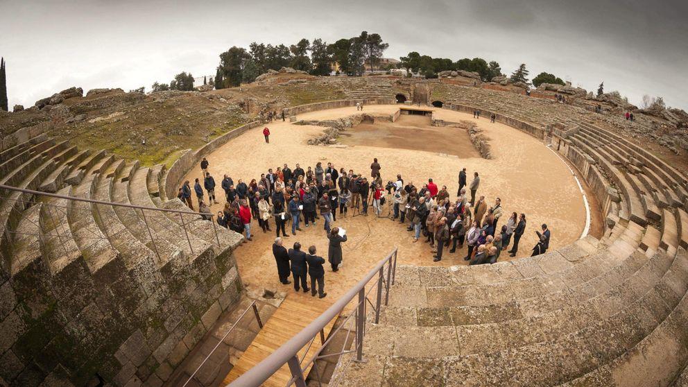 Mérida convierte su anfiteatro romano en una pista de pádel