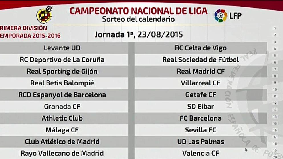 El Barça empieza la Liga en San Mamés y el Real Madrid, en El Molinón de Gijón