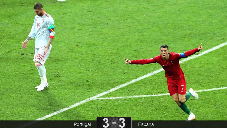 Foto: Cristiano Ronaldo le marcó tres goles a España. (EFE)