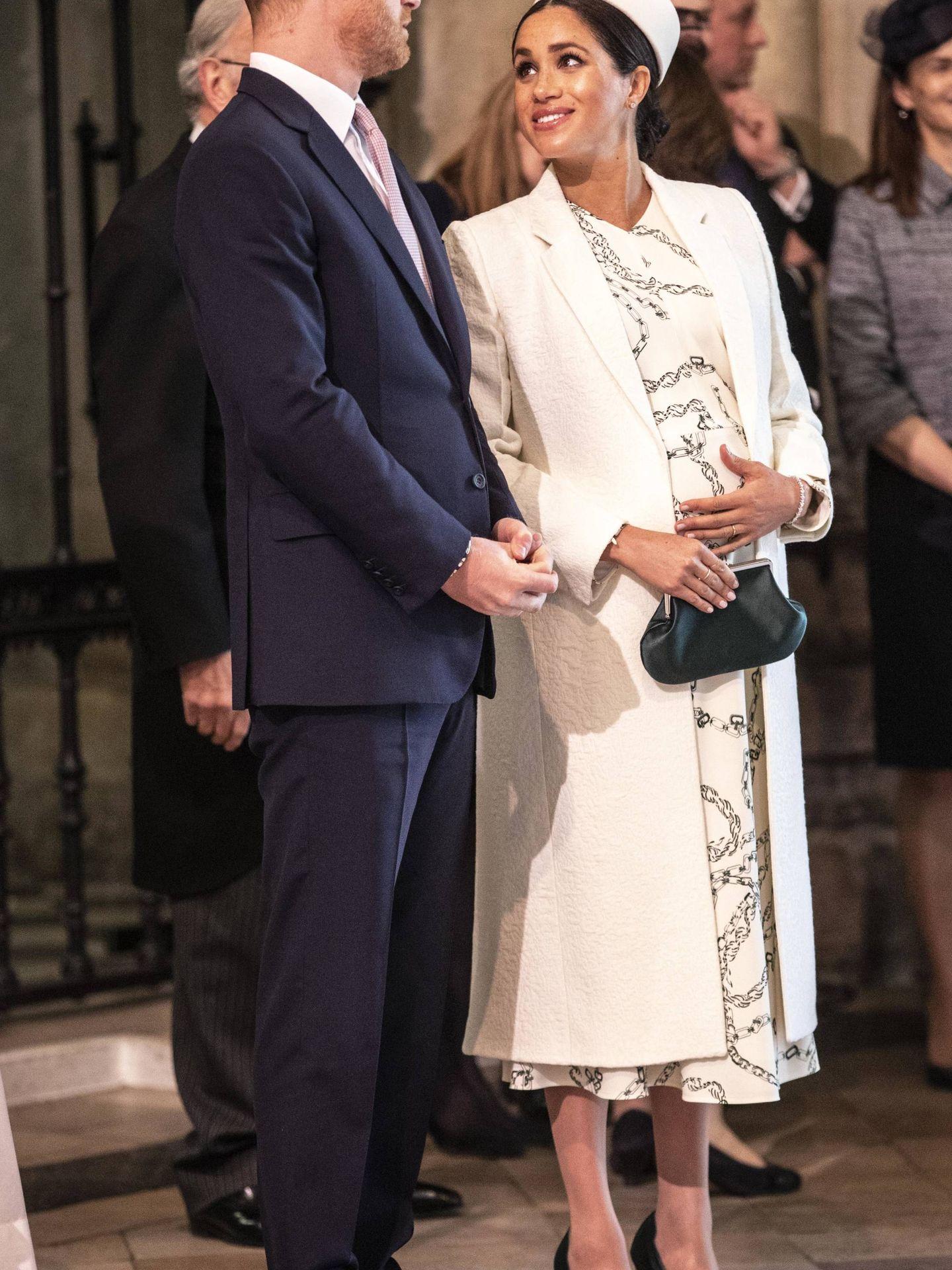 Los duques de Sussex en Westminster el día de la Commonwealth. (Getty)