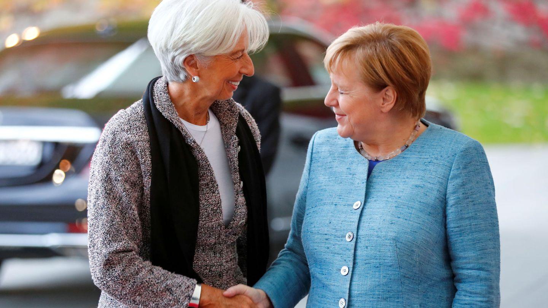Angela Merkel y Christine Lagarde. (Reuters)