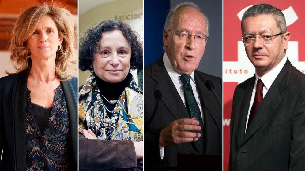 Foto: Cristina Garmendia, Ana Palacio, Manuel Pizarro y Alberto Ruiz-Gallardón han entrado en el mundo de los medios este año. (EC)