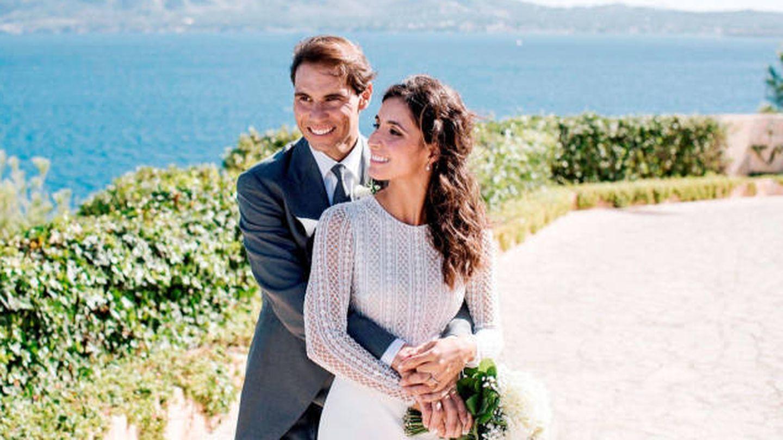 Rafa Nadal y Mery Perelló, el día de su boda. (EFE)