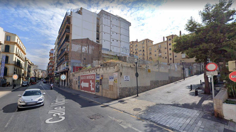 Solar donde se ubicaba el antiguo cine Andalucía en Málaga. (Google Maps)