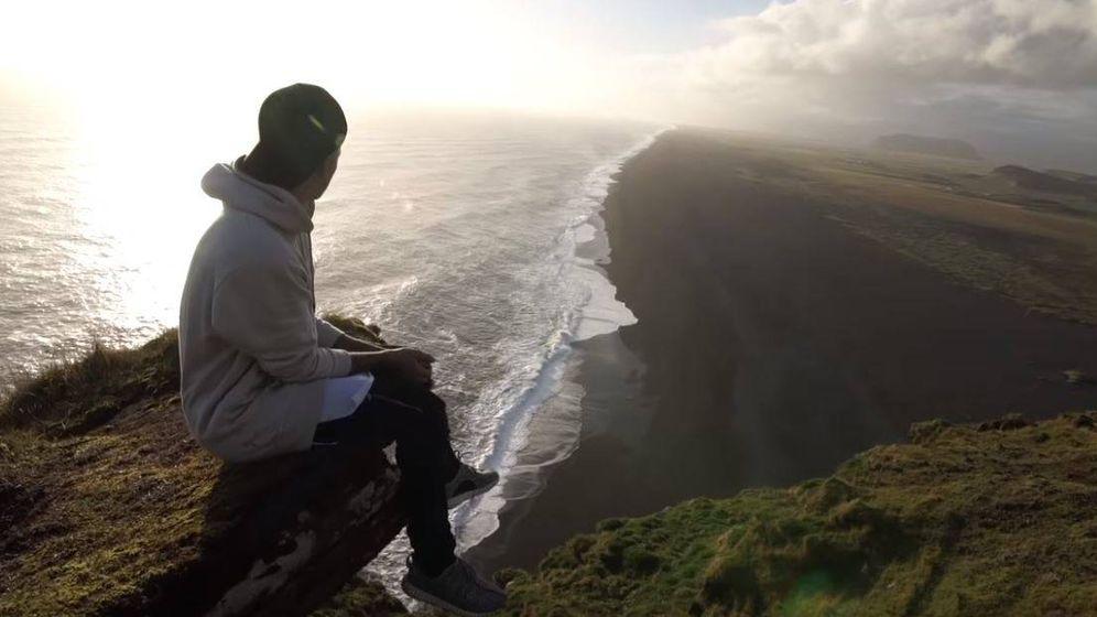 Foto: Justin Bieber en el cañón islandés.