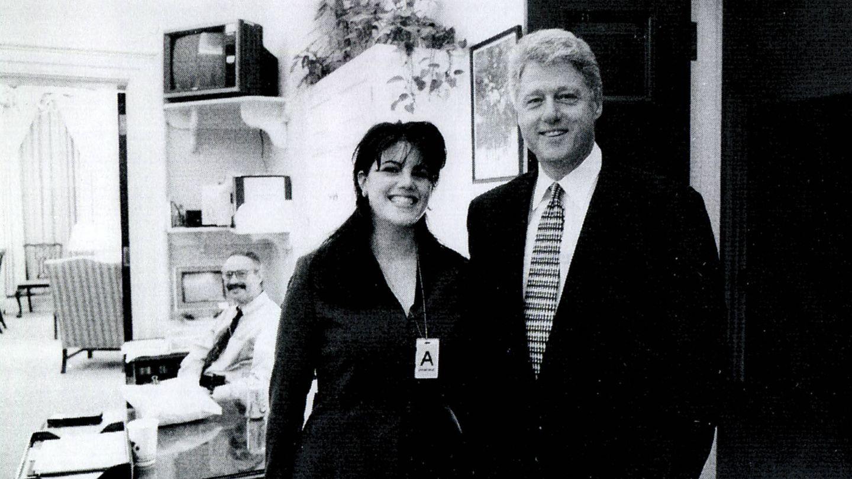 Monica Lewinsky y Bill Clinton. (Getty)