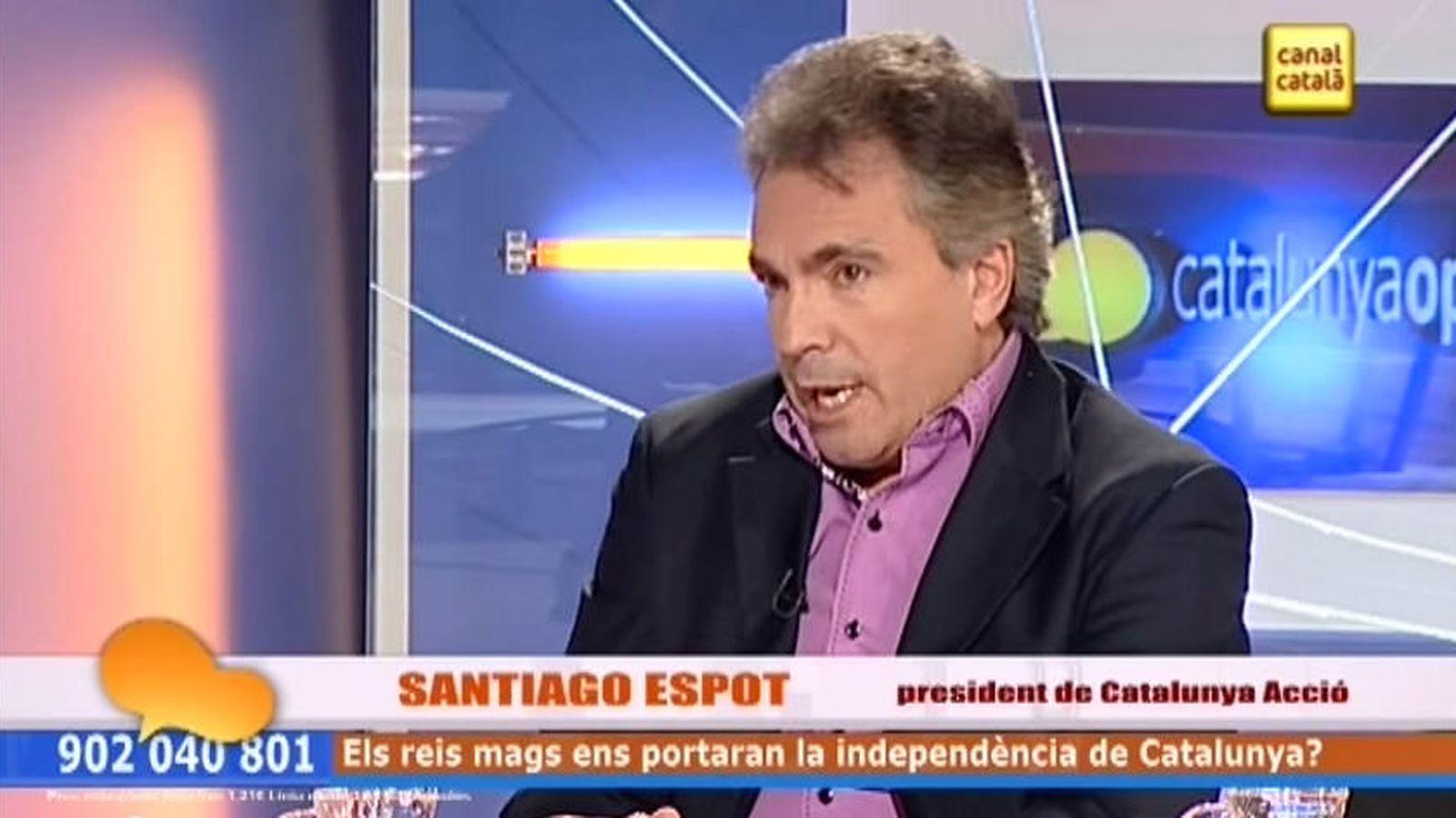 Foto: Santiago Espot, presidente de Catalunya Acció. (YouTube)