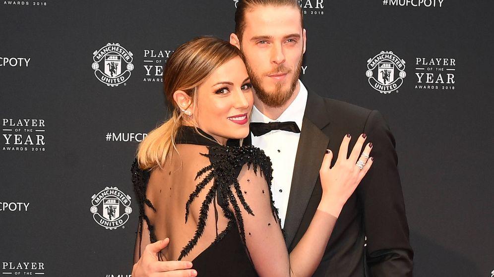 Foto:  Edurne y David de Gea, en la gala del Manchester United. (Gtres)
