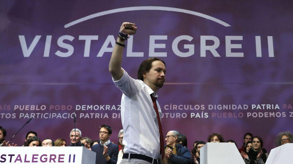Foto: El líder de Podemos, Pablo Iglesias, durante la Asamblea Ciudadana Estatal de Vistalegre II. (EFE)