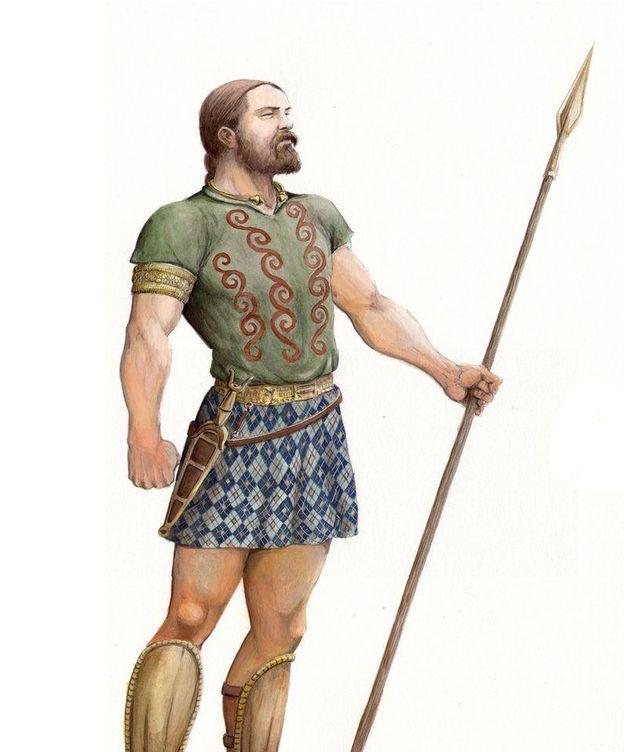 Foto: Recreación de un guerrero cántabro. (guerrascantabras.net)