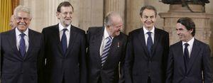 El Rey Juan Carlos recibió por separado y en privado a González, Aznar y Zapatero