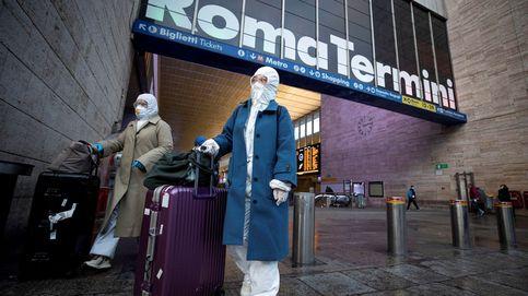 Controles de temperatura a pasajeros en las estaciones ferroviarias de Roma