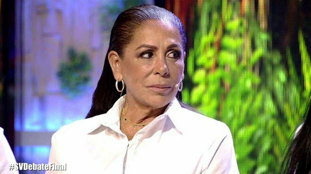 Foto: Isabel Pantoja, en 'Supervivientes 2019'. (Telecinco)