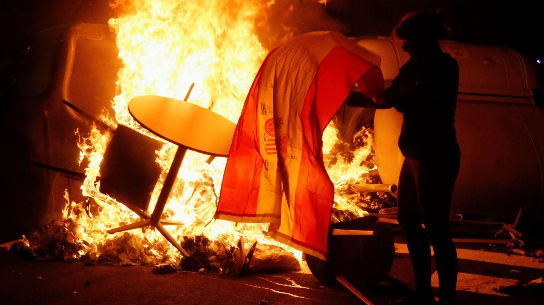 Imagen de los disturbios en Barcelona. (EFE)