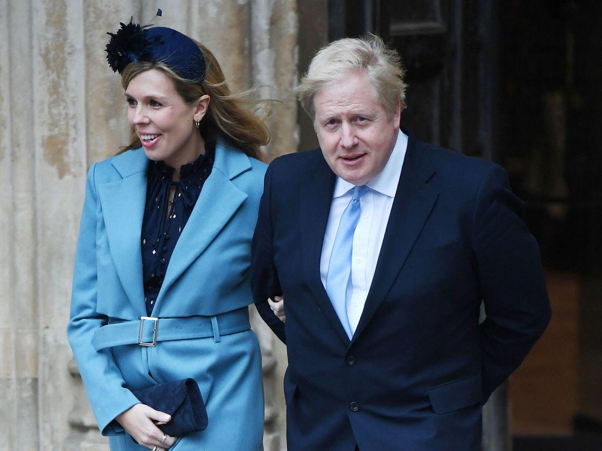 Foto: Carrie Symonds y Boris Johnson en una foto de archivo. (EFE)