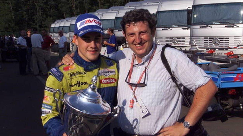 Fernando Alonso y Rubio en Hungría 2000.
