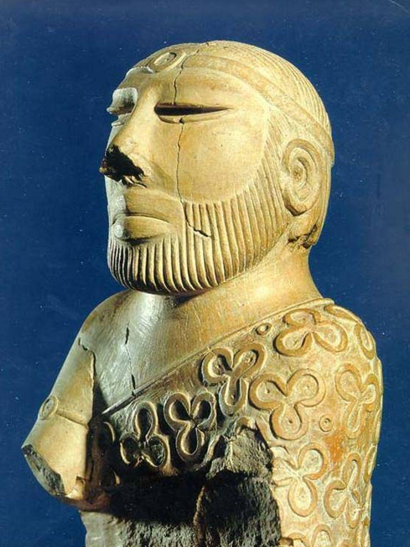El busto del hombre encontrado en Mohenjo-daro. (CC)