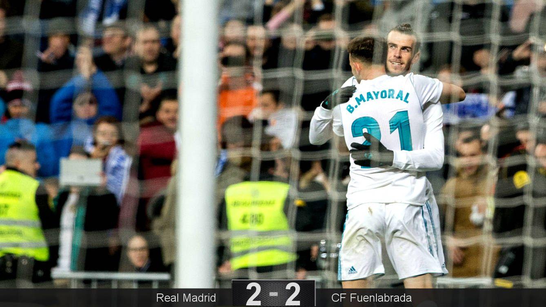Foto: Bale y Mayoral gestaron los goles blancos. (Cordon Press)