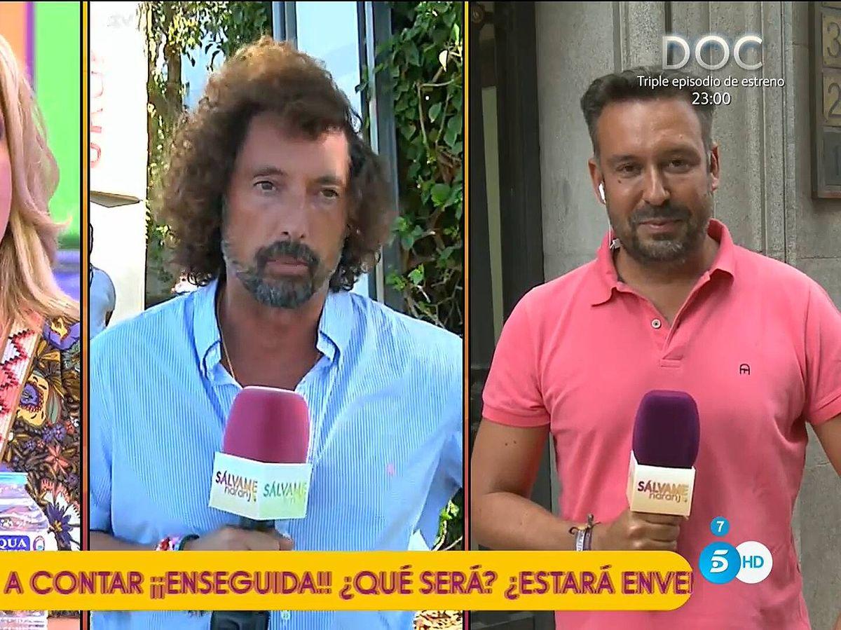 Foto: Lydia Lozano, José Antonio León y Kike Calleja, en 'Sálvame'. (Mediaset)