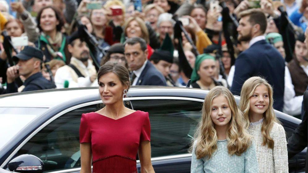 Foto: La reina Letizia, en su reciente visita a Asturias. (EFE)