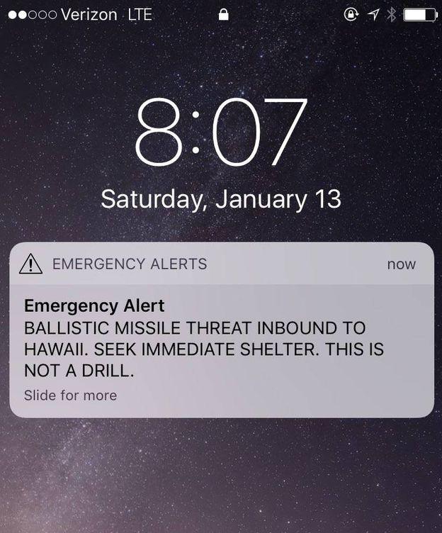 Foto: Alerta de misil en Hawai.