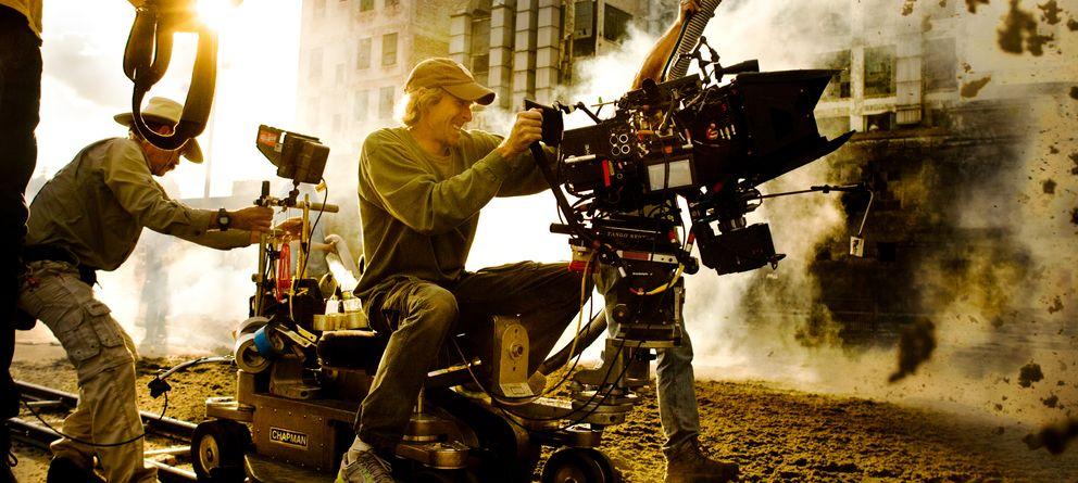 Foto: Michael Bay en el rodaje de la cuarta parte de 'Transformers'