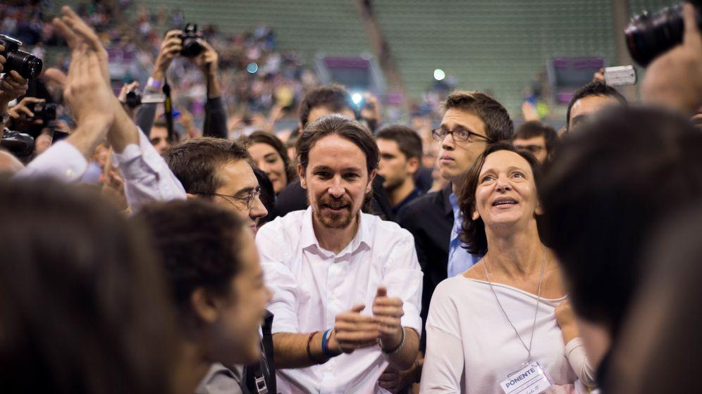 Foto: Pablo Iglesias, durante la asamblea ciudadana de Podemos en Vistalegre, el pasado mes de octubre. (Daniel Muñoz)