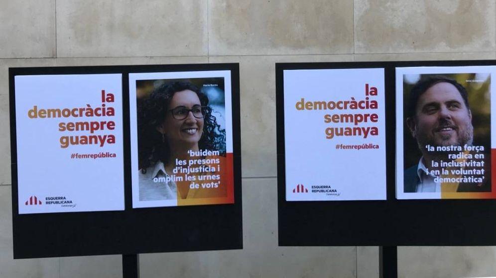 Foto: El lema y la imagen de campaña de ERC para las elecciones del 21-D. (EFE)