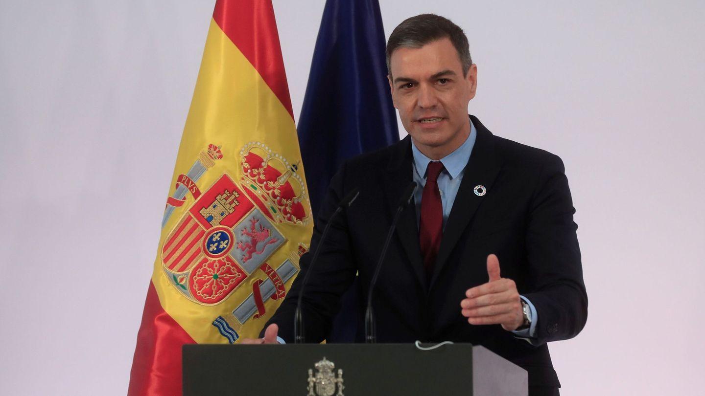 Sánchez, durante la presentación de la iniciativa 'Pueblos con futuro'. (EFE)