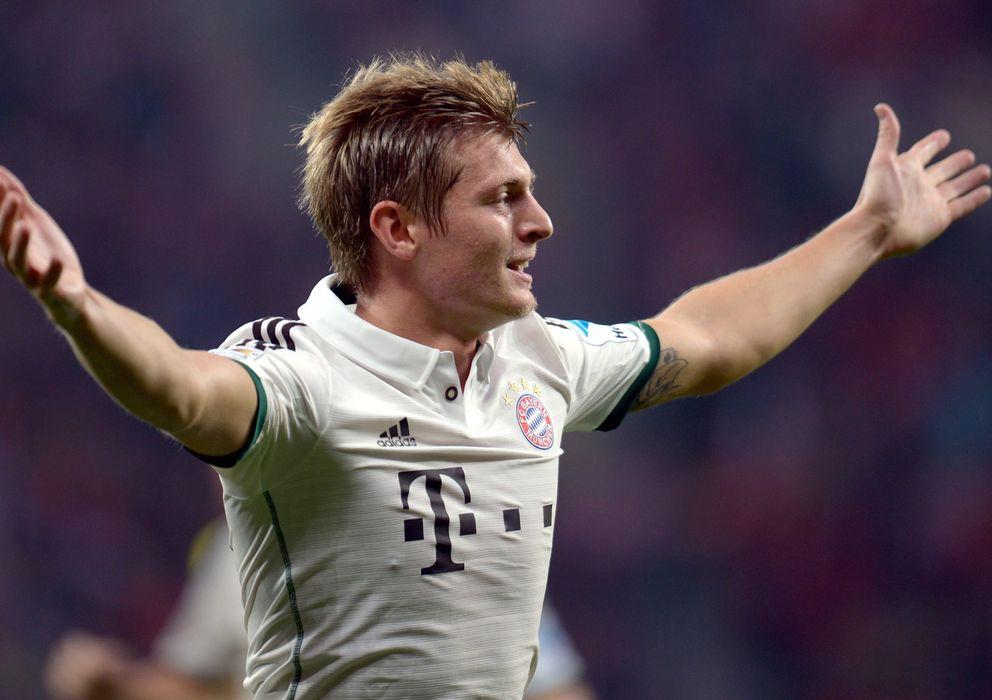 Foto: El centrocampista alemán Toni Kroos celebra un gol con el Bayern de Múnich.