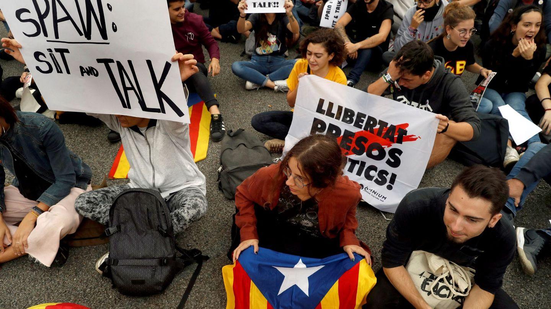 Protestas convocadas por Tsunami Democrático en Barcelona. (EFE)