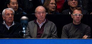 Post de El rey Juan Carlos reaparece (con menos peso) en el partido de un enfadado Nadal