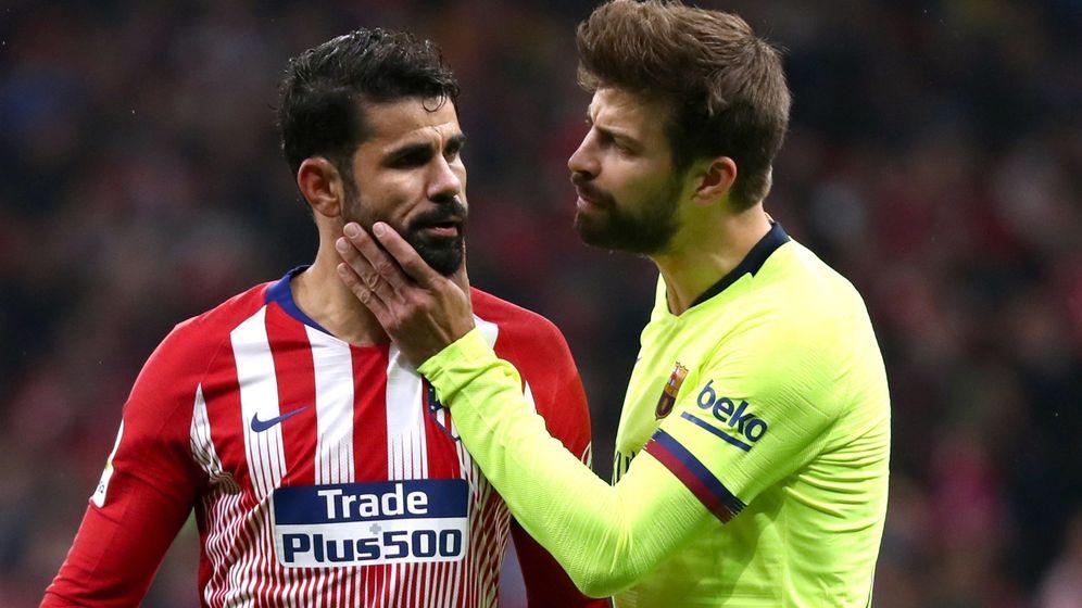 Foto: Piqué, el pasado sábado en el Wanda Metropolitano. (Reuters)