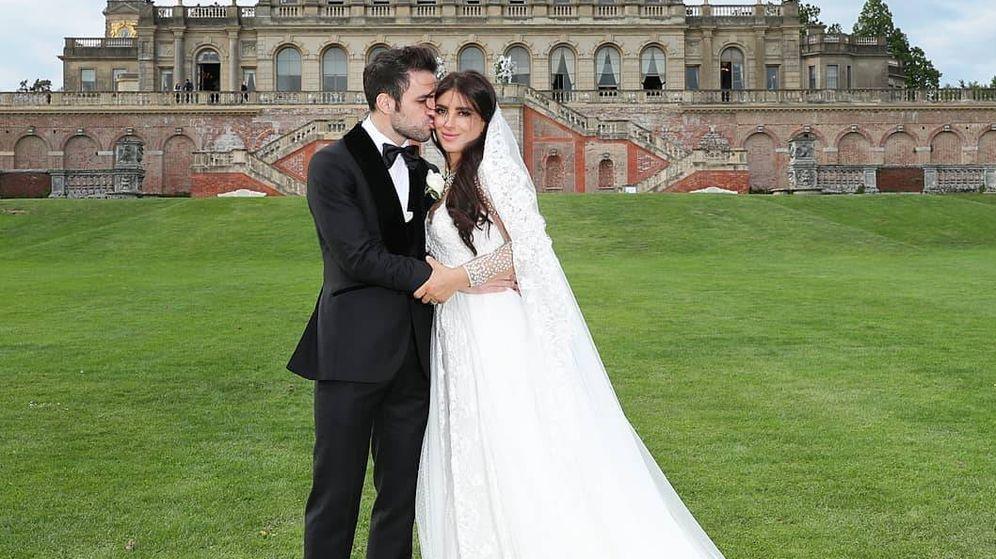 Foto: Cesc Fábregas y su mujer, Daniella Semaan. (Redes)